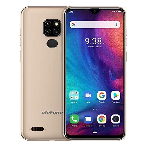 SDJJ Smartphone, Hinweis 7P, Dreifach-Rück Kameras & Face Unlock & Fingerprint ID Identifikation, 6,1-Zoll-Bildschirm Wassertropfen, Doppel-SIM & OTG (Color : Gold)