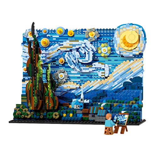 The Starry Night Model Architecture Building Block Set 1830pcs Nano Mini Blocks DIY Toys Kit and Gifts for Kids and Adults