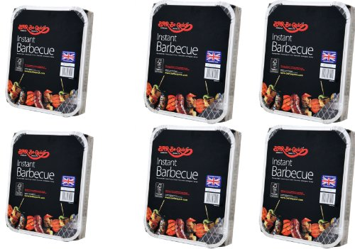 Bar-Be-Quick - Lot de 6 barbecues jetables rapides