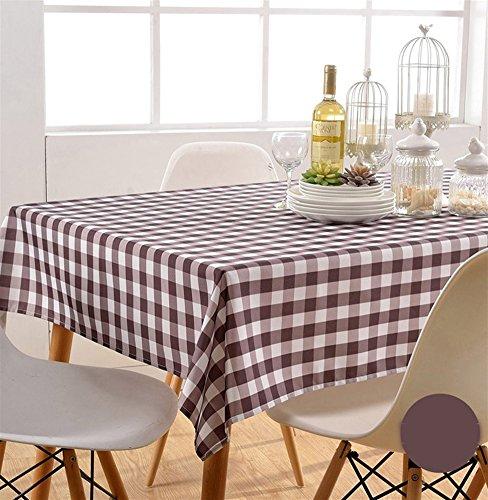Liveinu Nappe Rectangulaire Tissu de Table Vichy Lavable Entretien Facile Résistant Imperméable Anti-tâche Nappe de Table pour Picnic Cuisine Jardin Terrasse Balcon 140x200cm Café