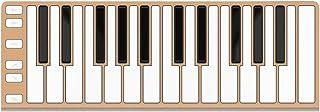 Artesia Xkey 25 USB MIDI Controller - طلایی