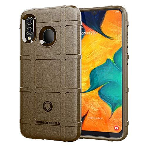 Carcasa compatible con Samsung Galaxy A30, de silicona mate, ultraligera, flexible, antiarañazos, antigolpes, de silicona suave marrón Talla única