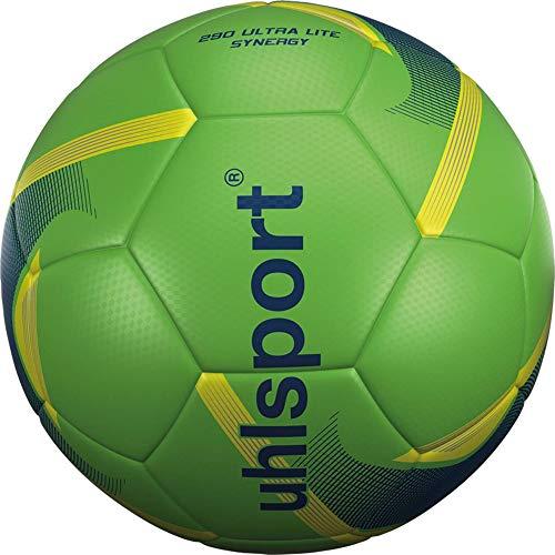 uhlsport Unisex– Erwachsene 290 Ultra Lite Synergy Fussball, Fluo grün/Marine/Fluo Gel, 5