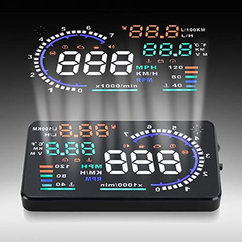 Qiilu A8 5.5 Zoll OBD II Auto HUD Head Up Display Auto Windshied Reflektierende Bildschirm Geschwindigkeit Display