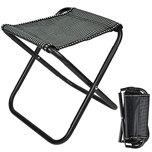 smatime Taburete Plegable Portátil Mini Taburete de Camping Plegable de Aluminio Silla...