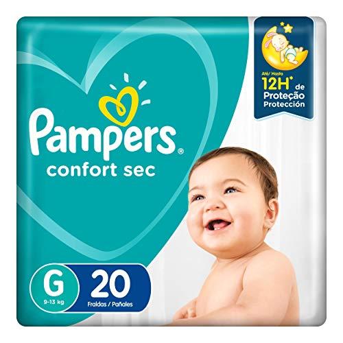 Fralda Infantil Pampers Confort Sec, Com 20 Fraldas Descartáveis, Tamanho G, PAMPERS CONFORT, G