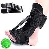 CHARMINER Plantar Fasciitis Night Splint Foot Drop Orthotic Brace, Adjustable Elastic Dorsal Splint, Effective Relief from Plantar Fasciitis Pain, Heel, Arch Foot Pain Green