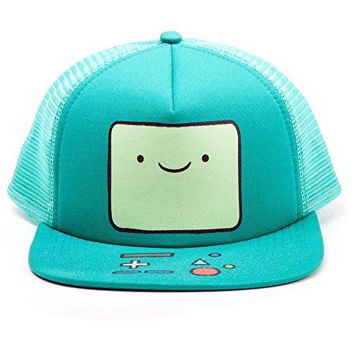 Meroncourt BA0PNRADV Adventure Time Beemo - Gorra de béisbol para Videojuegos, Color Turquesa, Talla única