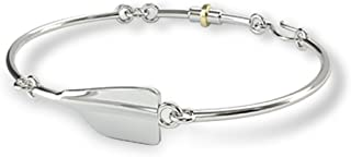 Strokeside Designs Rowing Cleaver Oar Women's Bracelet in 925 Sterling Silver/Crew Jewelry/Crew Bracelet Rowing Jewelry