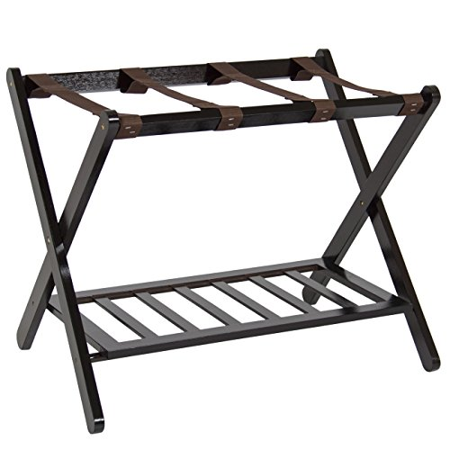 Best Review Of Best Choice Products 110lb Capacity Wood Folding Luggage Rack for Home, Bedroom, Hote...