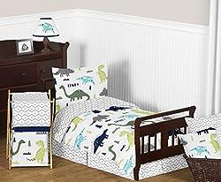6. Sweet Jojo Designs Toddler Dinosaur Bedding Set