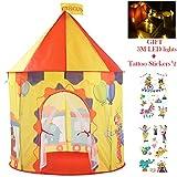 Georgie Porgy Kinder Faltbares Spielhaus Portable Zelt Schloss Indoor Outdoor Spielzeug Garten...