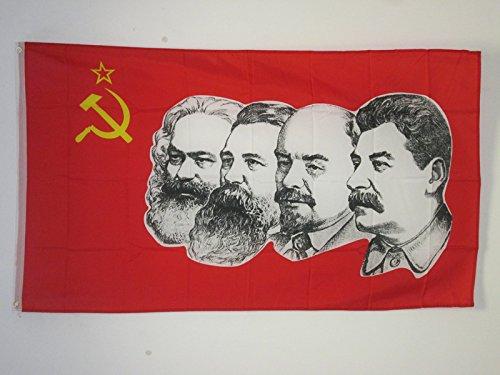 AZ FLAG Flagge DIE UDSSR 4 KOMMUNISTEN 90x60cm - SOWJETUNION Fahne 60 x 90 cm - flaggen Top Qualität