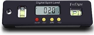 FstDgte デジタルレベル 電子水平器 デジタル角度計 傾斜計 LCD液晶画面 【ボタン電池付き 日本語説明書付き 1年保証】 (150mm)