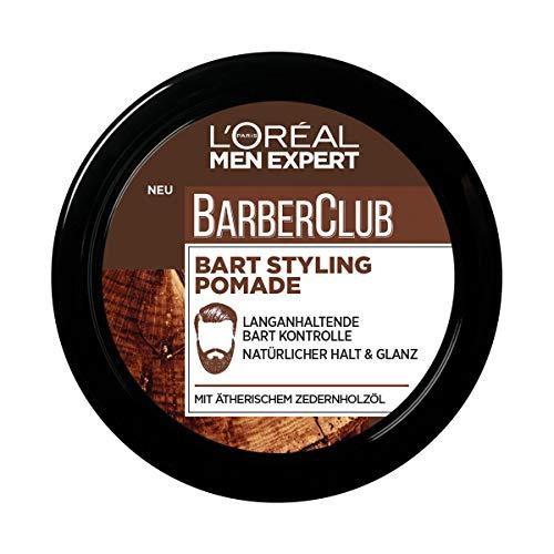L'Oréal Men Expert Barber Club Bart & Haar Styling Pomad mit Zedernholzöl, 75 ml