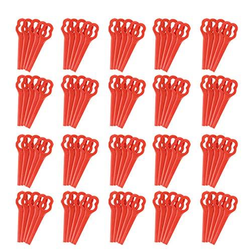 Zreal - Cuchillas de cortacésped, 100 unidades, para RT250, jardín, césped, cortacésped, accesorios