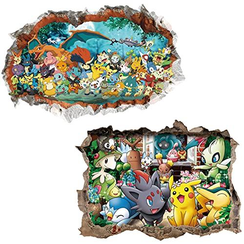 Kibi 2 adhesivos murales infantiles adhesivos de pared dormitorio pegatinas murales decoración pared dormitorio
