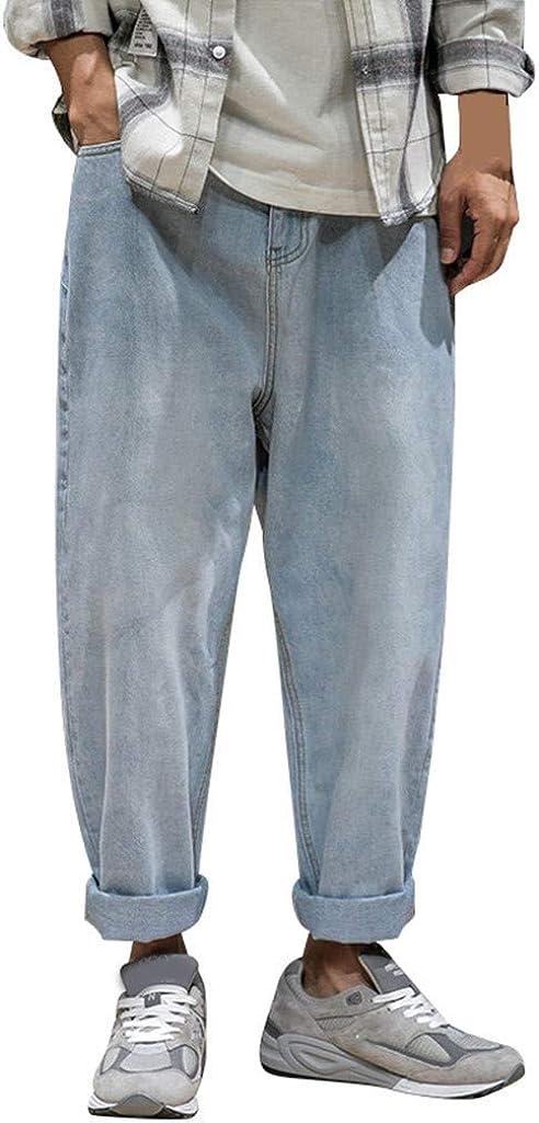 Mens Oversize Jeans High Waist Denim Trousers 8XL Loose Pants Cotton Baggy Pants