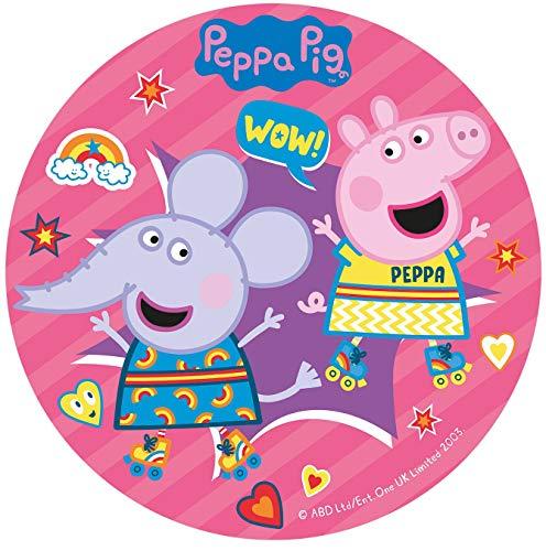 Dekora - Disco Comestible para Decoración de Tartas de Cumpleaños de Peppa Pig - 20 cm