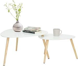 2 Mesas De Centro Escandinavo/Blanco/MDF
