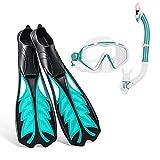 CYJ Gafas y Máscaras de Buceo y Tubo y Aletas de Buceo para Adulto,Unisex Packs de Snorkel Incluir Gafas de Buceo,Aletas Snorkel y Dry Top Snorkel,Kit de Snorkel Set para Mujeres Y Hombres