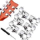 6 Pcs 3L3R Sintonizzatori A Testa Di Chitarra Per Chitarra Acustica, Manopola Di Chitarra ...