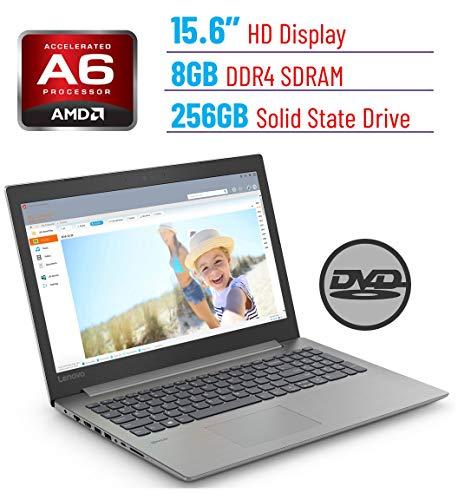 Lenovo Premium Ideapad 330 15.6' HD LED Backlit Anti-Glare Laptop PC, AMD A6-9225 2.6GHz, 8GB DDR4 Memory, 256GB SSD, DVD-RW, WiFi,Dolby Audio, Bluetooth, Webcam, HDMI, Windows 10