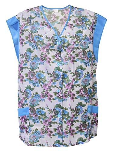 Kasack Hosenkasack Kittel kurz Schürze Dederon Polyester bunt, Farbe:Dessin 2, Größe:48