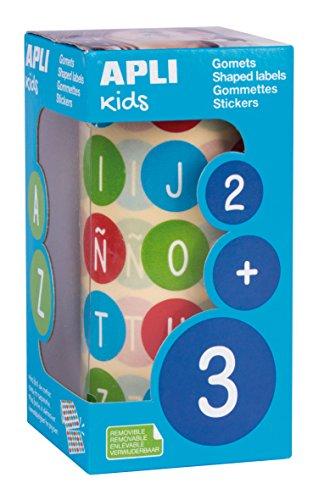 APLI Kids 15126 - Rollo gomets abecedario mayúsculas