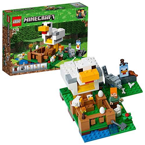 Lego Minecraft 21140 Hühnerstall, Minecraft Set, Bunt
