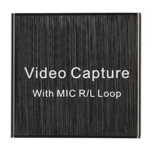 Estink Tarjeta de Captura de Audio y Video, Adaptador de Captura HDMI USB 2.0 con 1 Entrada HDMI, 1 Salida de Bucle HDMI, Compatible con Video USB UVC y Audio USB UAC