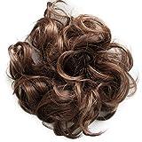 PRETTYSHOP Postizo Coletero Peinado alto, VOLUMINOSO, rizado, Moño descuidado mezcla marrón # 4/30 G26AL