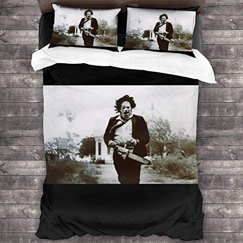 Yuanmeiju The Texas Chainsaw Massacre Bed Set Duvet Cover and Pillow Case 3 Piece Bedding Set 86'X70'