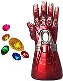 ASEDRF Iron Man Guantelete del Infinito, Infinito LED Guante Iron Man...