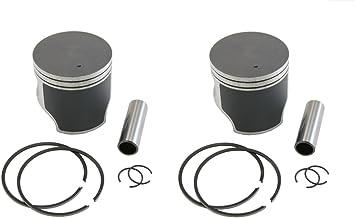 2 SPI Piston Kits 2001-2004 Polaris 600 Pro X//Pro X2 Standard Bore 77.25mm