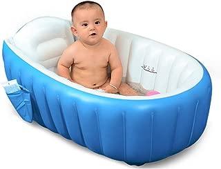 ベビーバス 赤ちゃんお風呂 ベビーバスタブ 空気入れポンプ付き 対象年齢0ヶ月~36ヶ月 Vinteky (ブルー)
