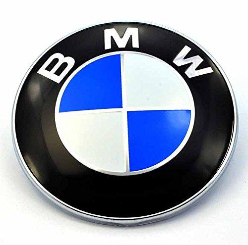 82 mm cofano anteriore e posteriore per baule & cappuccio, colore: bianco con Logo emblema