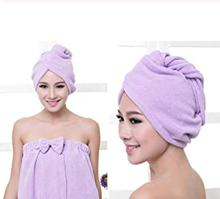 Yangfeng Magic Hair Drying Towel Hat Head Shower Cap Quick Dry Towel Hair Wrap Microfibre Turban Soft Bath Head Cap D- Quick-drying towel