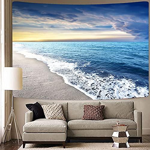Ola de calor paisaje marino cielo colgante de pared hippie mar tapiz mandala tapiz psicodélico fondo bohemio tela toalla de playa A6 150x200cm
