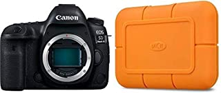 Canon EOS 5D Mark IV Full Frame Digital SLR Camera Body with LaCie Rugged SSD 1TB Solid State Drive