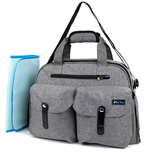 Joie Bean Baby-Wickeltasche mit Wickelunterlage und isolierten Taschen, große Kapazität, Reisetasche mit Kinderwagengurten, multifunktionale Wickeltasche