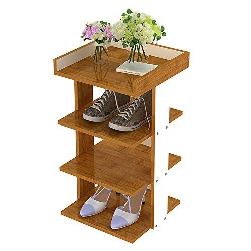 LVZAIXI Estante de Zapato Creativo de múltiples Capas/Puerta de Madera Estante de múltiples Funciones/Caja de Zapato casero de la asamblea de Espacio (3 Colores Opcionales)