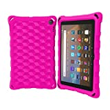 2020 All-New Tablet 8 inch Case (Compatible with 10th Generation Tablets, 2020 Releases) - DJ&RPPQ Anti Slip Shockproof Light Weight Protective Case [Kids Friendly] - Pink