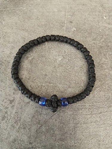 MONK_PRAY_ROPES Komboskini Prayer Rope Chotki Brojanica Rosary Hanmade Bracelet (Waxed Cotton)