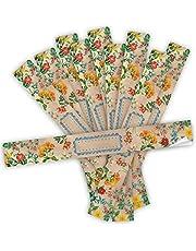 Logbuch-Verlag 10 naklejek XXL na prezent vintage kwiatowy z kwiatowym wzorem - długie naklejki do opisywania - taśma do pakowania 5 x 42 cm