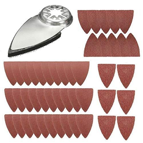 Almohadillas de lijado multiherramienta oscilantes para dedos, multiherramienta, papel de lija oscilante triangular, compatible con muchas herramientas de oscilación para pulir