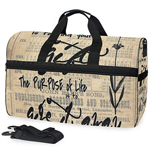 Picasso Sinn des Lebens mit inspirierendem Zitat der Blume 03 große Reise-Seesack-Einkaufstasche-Wochenenden-Übernachtreisetasche Turnbeutel-Eignungssport-Tasche mit Schuhfach