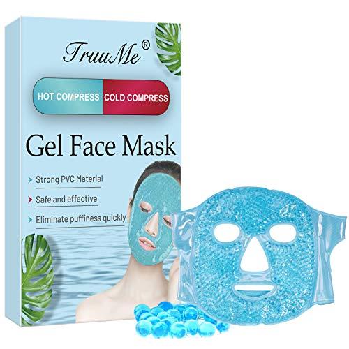 Kühlmaske Gesicht, Augenmaske Kühlend, Kühlende Maske für das Gesicht, Gel Face Mask, für Die Augen, Wohltuende Wellnessmaske, Migräne, Kopfschmerzen, Geschwollene Augen