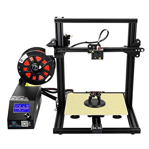 Bricolage 3D Printerdiy, plaquette 3D de Filament d'imprimante 3D, écran LCD avec Cadre d'impression de la Taille de la Carte SD, Taille d'impression 300 * 220 * 300mm,Black