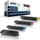 Print-Klex - 4 cartucce toner compatibili per Kyocera ECOSYS M6030cdn M6530cdn P6130cdn TK5140 TK 5140 TK 5140K TK5140K TK-5140K Nero Blu Rosso Giallo Serie Office Print